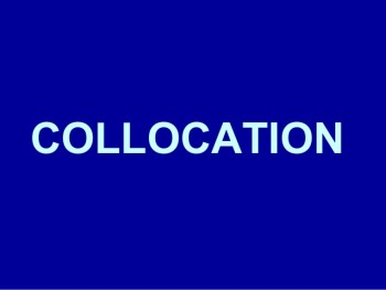 Collocations - collocations em ingles